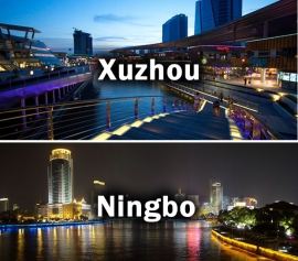 Xuzhou and Ningbo